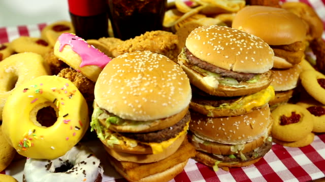 fast food - cheeseburger stock videos & royalty-free footage