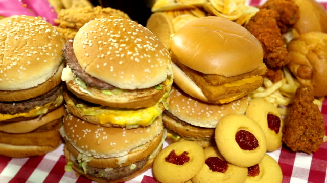 fast food - hamburger stock videos & royalty-free footage