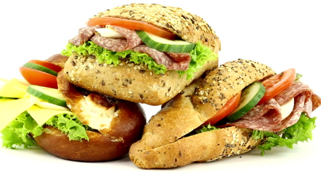 fast food - sandwich stock videos & royalty-free footage