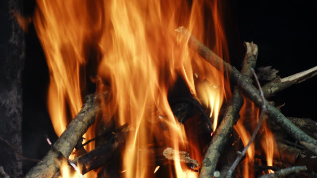 fast hot burning fire and wood image. - log stock videos & royalty-free footage