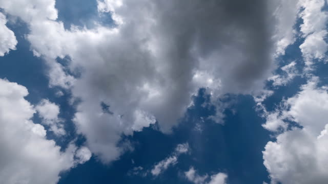 Fast motion of clouds in sky, time lapse.