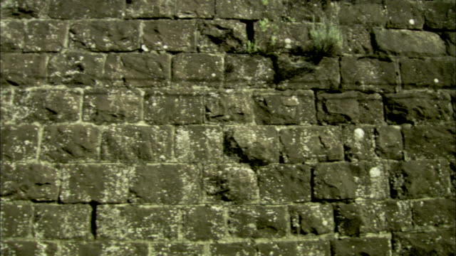 fast motion track past brick walls in venice, italy. - brick stock videos & royalty-free footage