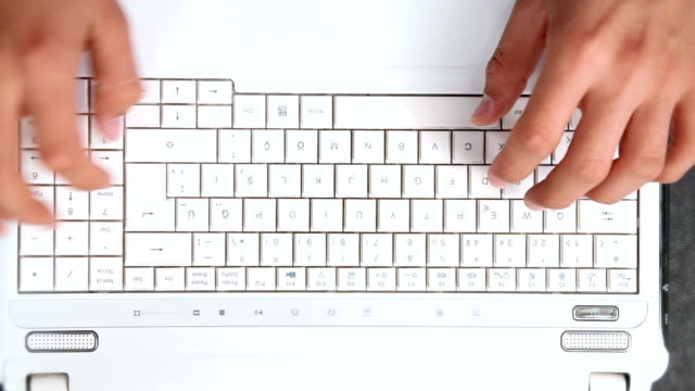 Fast Motion Typing On A Keyboard
