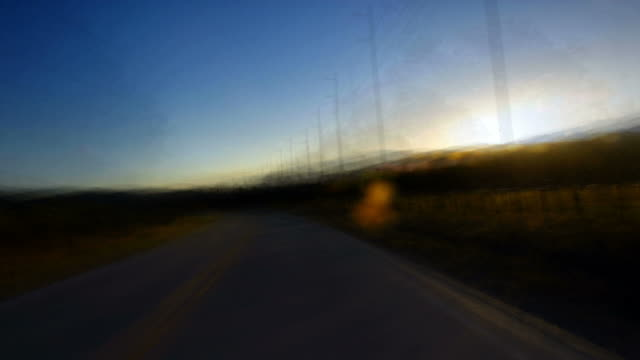 a fast ride down a dusky country road. - digital enhancement stock videos & royalty-free footage