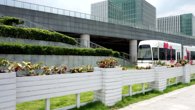 fast tourist train in guangzhou, real time. - tourist train stock videos and b-roll footage