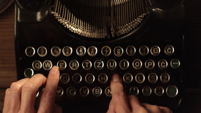 LD Fast typing on an old typewriter