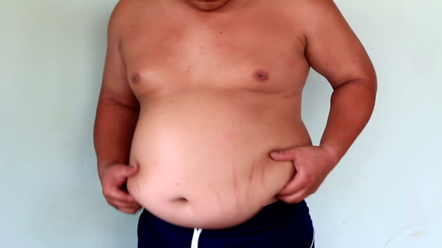 fat belly and belly button - belly button stock videos and b-roll footage