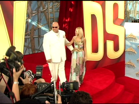 fat joe and nicole richie at the 2005 mtv movie awards arrivals at the shrine auditorium in los angeles, california on june 4, 2005. - nicole richie stock videos & royalty-free footage