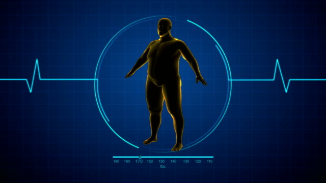 fat man to fit man or healthy man - dieting stock videos & royalty-free footage