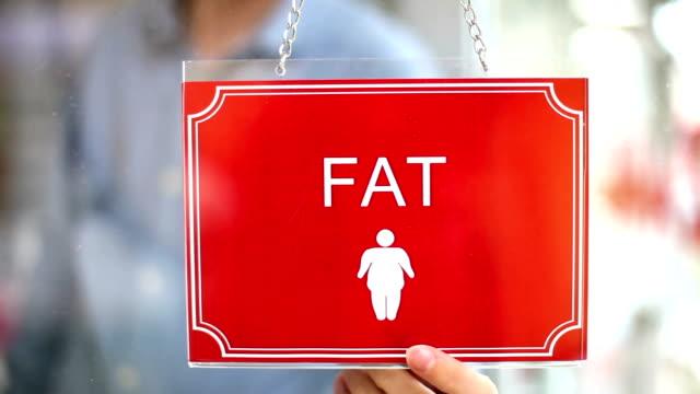Fat - Thin Sign