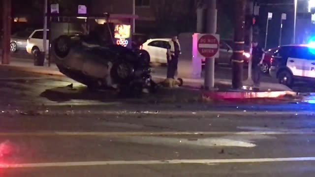 Fatal car crash in Northridge, CA  Stock Footage Video - Getty Images