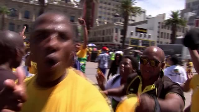 Fate of President Jacob Zuma to be decided SOUTH AFRICA Cape Town EXT Various of people dancing and singing to celebrate the impending removal or...