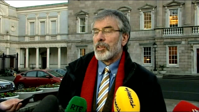 father alec reid dies northern ireland belfast ext gerry adams interview sot he was good man / people should be grateful to this unassuming modest... - gerry adams stock videos and b-roll footage