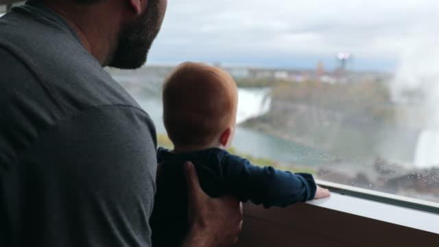 Father and Baby Boy at Niagara Falls