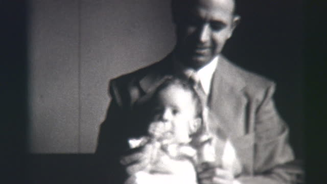 father and daughter 1941 - necktie stock videos & royalty-free footage