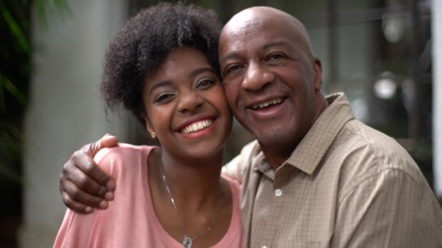 father and daughter embracing - father's day stock videos & royalty-free footage