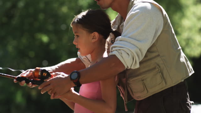 father and daughter fishing - cast member stock videos & royalty-free footage