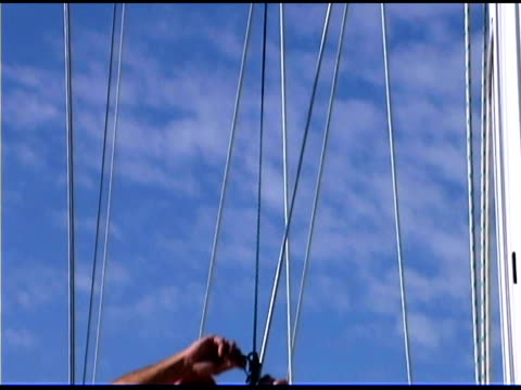 father and daughter on sailboat - bald head island stock videos and b-roll footage