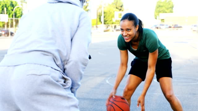 father and daughter playing basketball - basketball sport stock videos & royalty-free footage