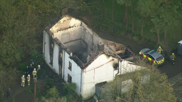 Father and five children feared dead in fire at Welsh farmhouse Firedestroyed farmhouse