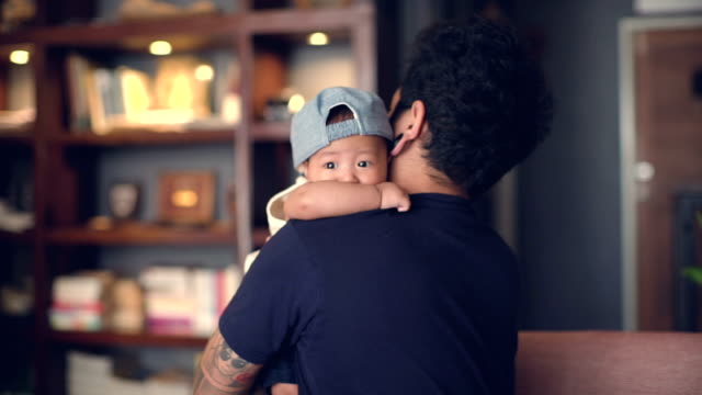father and son bonding - life events stock videos & royalty-free footage