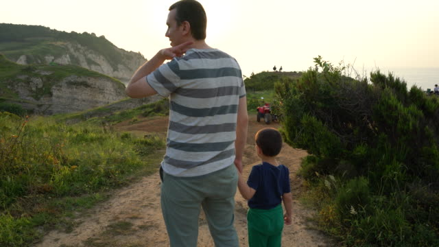 father and son, father's day - 4 5 years stock videos & royalty-free footage