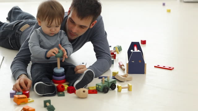 father and son playing - father's day stock videos & royalty-free footage