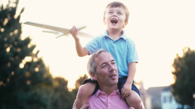 father and son - model aeroplane stock videos & royalty-free footage