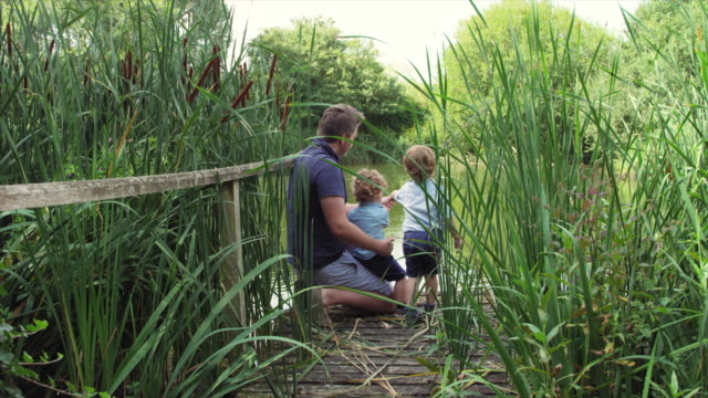 father and sons fishing - jetty stock videos & royalty-free footage