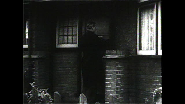 b&w father arrives home, family eating dinner; 1957 - watch stock videos & royalty-free footage