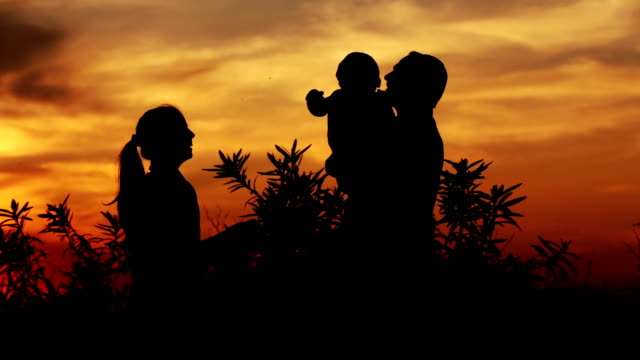 father & child playing outdoor silhouette - parent stock videos & royalty-free footage