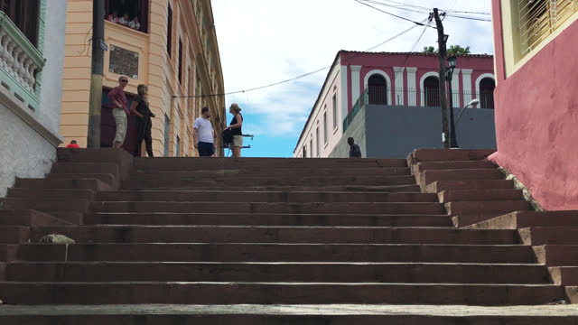 father pico steps in the tivoli community on june 20 in santiago de cuba, cuba. the place is a local landmark and a tourist attraction in the second... - local landmark stock videos & royalty-free footage