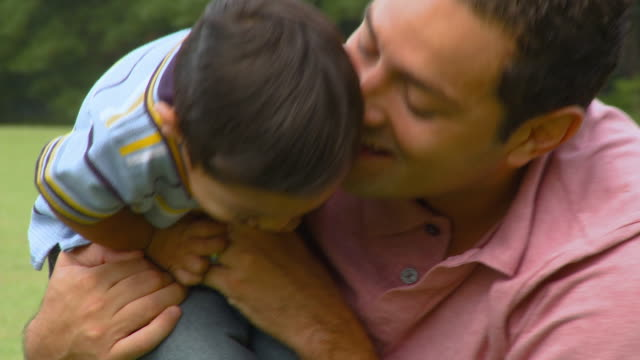 cu, father playing with son (18-23 months), richmond, virginia, usa - 18 23 months stock videos and b-roll footage
