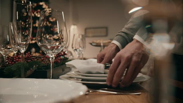 Vater Ambiente bis Weihnachten-Tisch zum Abendessen