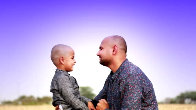 father & son loving portrait - hugging self stock videos & royalty-free footage