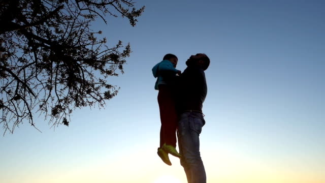father tossing son into air - memories stock videos & royalty-free footage