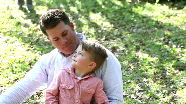 father with two young boys - genderblend stock videos & royalty-free footage