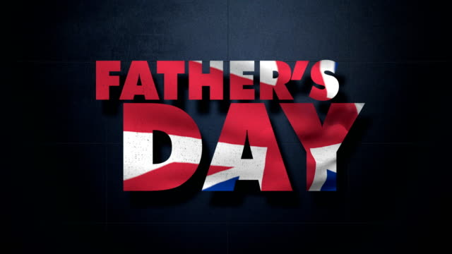 father's day and british flag - fathers day stock videos & royalty-free footage