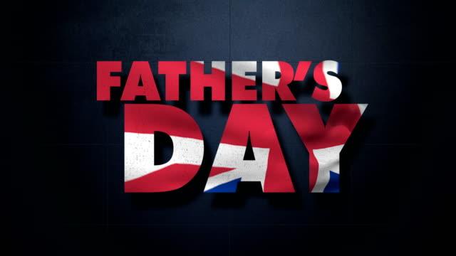 vídeos y material grabado en eventos de stock de día del padre y la bandera británica - father day