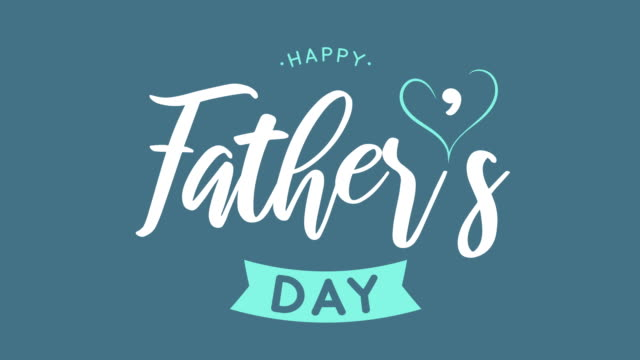 vídeos y material grabado en eventos de stock de fondo azul del día del padre. animación 4k - father day