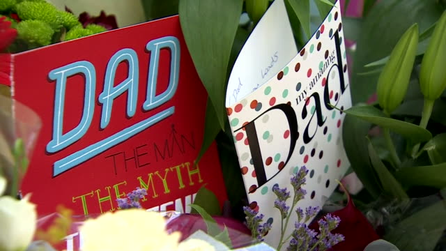 father's day cards left near the site of grenfell tower - father's day stock videos & royalty-free footage