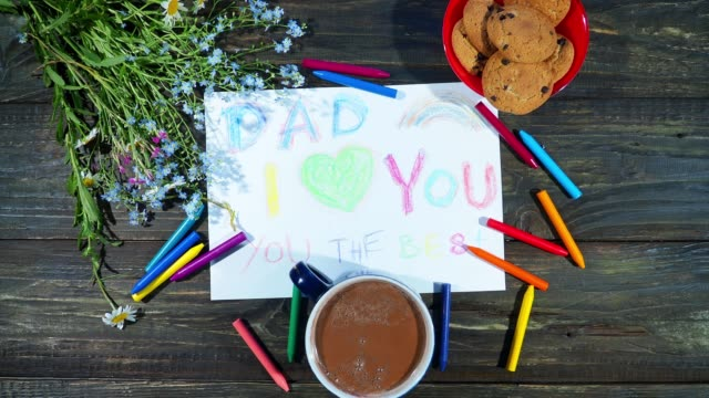 father's day gifts from kids - fathers day stock videos & royalty-free footage