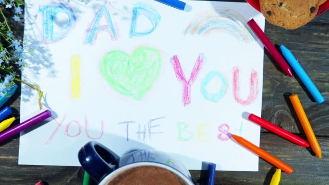 father's day gifts from kids - father's day stock videos & royalty-free footage