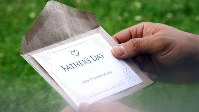 father's day (every 3rd sunday of june) letter - father's day stock videos & royalty-free footage