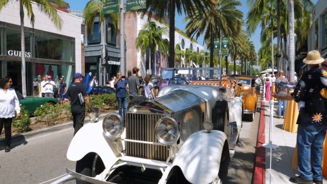 a father's day tradition for over 20 years the annual rodeo drive car show is free and open to the public and draws high quality classic automobiles... - classic car stock videos and b-roll footage