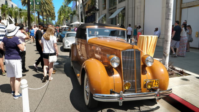 a father's day tradition for over 20 years the annual rodeo drive car show is free and open to the public and draws high quality classic automobiles... - tradeshow stock videos & royalty-free footage