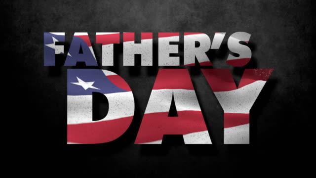アメリカの国旗と父の日 - ビジカジ点の映像素材/bロール