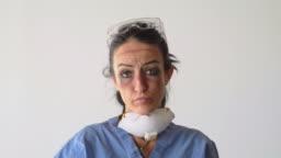 Fatigued Healthcare Worker