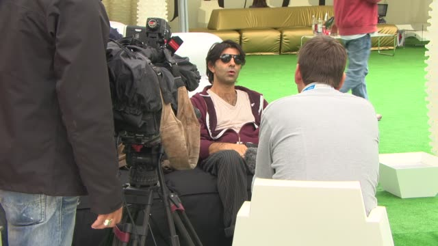 fatih akin at 'the cut' interview - 71st venice international film festival on september 01, 2014 in venice, italy. - 第71回ベネチア国際映画祭点の映像素材/bロール
