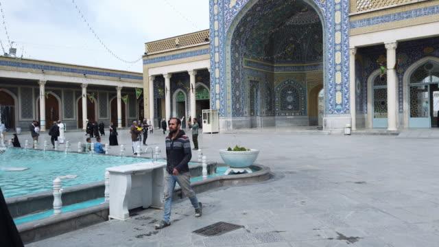 vidéos et rushes de fatima masumeh shrine, qom, iran, western asia, asia, middle east - tour d'azadi